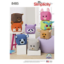 "Simplicity SEWING PATTERN 8485 8""/20.5cm Stuffed Cube Animals"