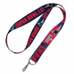 New England Patriots Super Bowl LIII Two-Tone Lanyard Key chain 26'' by WinCraft