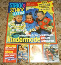Strick & Schick von 1993 Kinder Stricken & Nähen Strickheft Schnittmuster