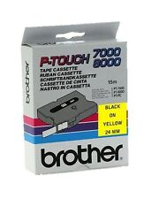 Brother P-touch TX-651 (24mm x 15m) Black On Yellow Labelling Tape