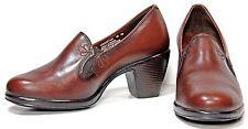 Dansko Beth Pump sz 7.5-8 Brown Nappa Leather Heels WH46