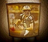 3D-Print Colored Lithophane LED Dark Activated NFL Saints Drew Brees Nightlight
