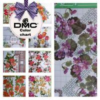UZ-39 Cross Stitch DMC Embroidery Patterns - Flower borders