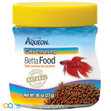 Aqueon Color Enhancing Betta Fish Food .95oz Jar Betta Fish Food Pellets