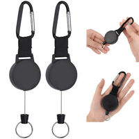 Schlüsselringe Schlüsselanhänger einziehbar Schwarz Lang semimetall Praktisch