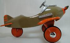 Air plane Pedal Car WW2 Vintage Mustang Orange Wing Aircraft Midget Metal Model