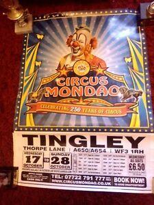 Circus Poster Large Circus Mondao Tingley