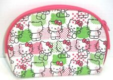 Hello Kitty! Cosmetics Bag  Makeup Bag Travel Great Condition pink green