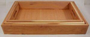 Set Of 3 Handmade Cedar Nesting Boxes New Hand Crafted