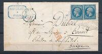 1863 Lettre 40c 2N°22 obl roulette de points + PD Rge PARIS(60) P2676