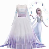 Die Eiskönigin Mädchen Frozen Elsa Prinzessin Partykleid Karneval Cosplay Kostüm