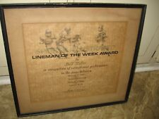 1961 College Football Sports Illustrated Lineman of Week Award- Bill Miller SE