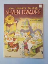 """Walt Disney's Linen Like book, """"Famous Seven Dwarfs"""", Vintage Collection Reprint"""