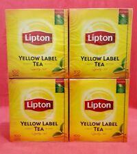 400 Lipton Tea Bags Black Tea - 4 x 200 G - Yellow Label