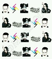 Marilyn Manson Nail Decals Free Shipping!! Water Decals!  Rock Nail Decals