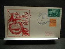 USS MATTAPONI AO-41 Naval Cover 1946 CHRISTMAS Cachet OIL CAN