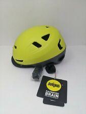 BERN, Hudson MIPS Bike Helmet with Integrated LED Rear Light and U-Lock Yellow S
