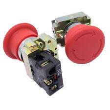 Us Stock 2pcs Xb2 Bs542 Red Mushroom 1nc Emergency Stop Push Button Switch