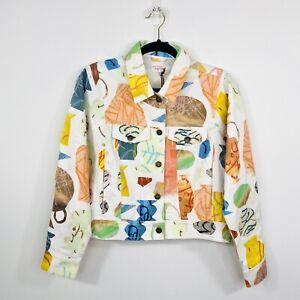 Gorman O-Clay Womens Cropped Denim Jacket Size 10 NWT
