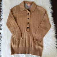Tory Burch Sweater Size S Button Down 3/4 Sleeve Cardigan Pullover Wool Womens