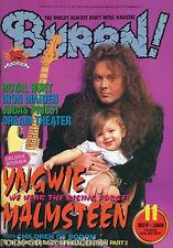 Burrn! Heavy Metal Magazine November 1999 Japan Yngwie Malmsteen Rage Raven