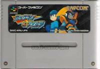 """ ROCKMAN & FORTE "" MEGA MAN & BASS CAPCOM SFC SNES SUPER FAMICOM NINTENDO JAPAN"