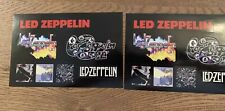 New Old Stock 2015 Led Zeppelin Ii Edition Promo Sticker Sheet Rare Lot Of 2