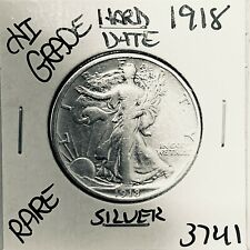 1918 LIBERTY WALKING SILVER HALF DOLLAR HI GRADE U.S. MINT RARE COIN 3741