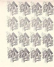 1971 STRIKE MAIL KING ARTHURS KNIGHTS POSTAL SERVICE BLACK IMP STAMPS x 16 MNH