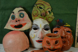large lot Halloween toys, 30's-50's,some marked U.S.A. & Germany