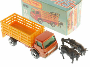 Matchbox 71E Superfast Cattle Camion Arancione Autocarro Dodge MIB Box Ovp