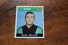 More details for alex miller (hibernian & rangers fc) hand signed 'panini 89' sticker hibs 1989