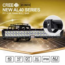 "23 inch CREE LED Light Bar SPOT For 76mm ARB Front Bull Bar Mount Black 22"""