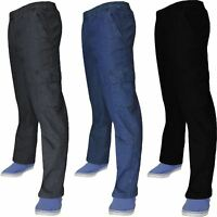 Mens Elasticated Denim Stretch Jeans Cargo Combat Waist Work Wear Chino Pants
