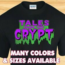 TALES FROM THE CRYPT LOGO - Horror Comic Book TV Show - CUSTOM T-SHIRT