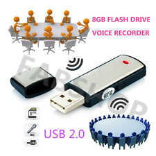 Voce Digitale Registratore Audio Dictaphone USB 2.0 8GB memory stick flash drive