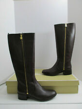 MICHAEL KORS FRENCHIE LEATHER TALL RIDING BOOTS SIZE 11M US NIB MSRP $225