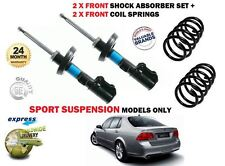FOR SAAB 9-5 SPORT SUSPENSION 1997-2009 2 X FRONT SHOCK ABSORBER + COIL SPRINGS
