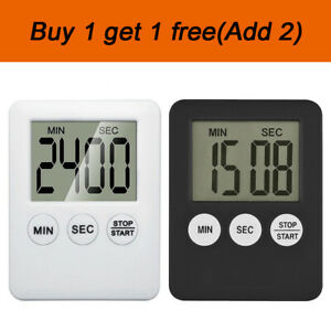 LCD Digital Large Kitchen Cooking Timer Count-Down Up Clock Alarm Magnetic