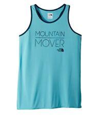 North Face Girls Medium Peak Sleeveless Tank Top Blue Curacao MOUNTAIN MOVER