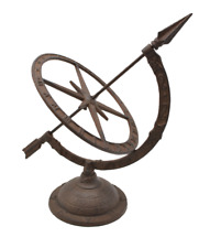 Cast Iron Traditional Sundial Antique Rust Garden Yard Outdoor