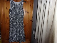 Black and white sleeveless tea dress, PAPAYA, size 10, NEW