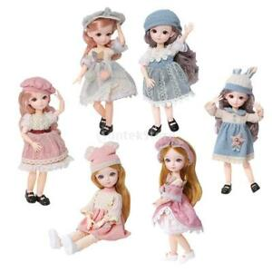 1/6 23 Jointed BJD Girl Doll Soft Hair with Clothes Shoes Lovely Toy Gift
