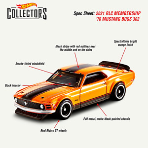 Hot Membership Club 2021 RLC '70 Mustang BOSS 302 SPECTRAFLAME Orange PREORDER