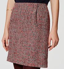 NWT Ann Taylor LOFT Tweed Pocket Shift Skirt Size 10