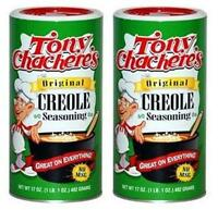 Lot of 2, Tony Chachere's ORIGINAL CREOLE SEASONING 17 oz. Total 34 oz. No MSG