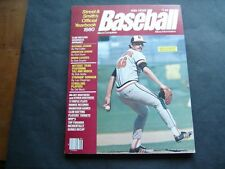 1980 Street & Smith's Baseball Yearbook Magazine Mike Flanagan Orioles Cover