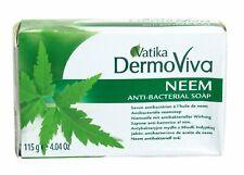Vatika DermoViva  Neem Anti-Bacterial Soap - 6 x 115g Bars -  FREE UK DELIVERY