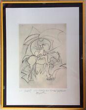 """E.A.Archiguille 1935 Lithographie """"Eclectic"""" 1964 Épreuve D'artiste.Dédicacée."""
