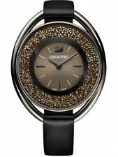 *NEW* SWAROVSKI CRYSTALINE WATCH 5158517 LADIES GUNMETAL BLACK NEXT DAY DELIVERY